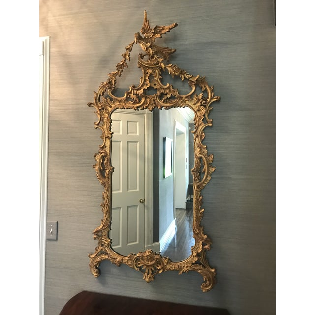 Belle Époque Gold Carved Wood Mirror For Sale - Image 6 of 6