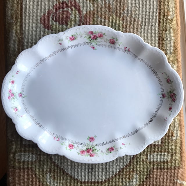 Vintage Floral Platters - Laughlin & Bassett in Cottage Rose Themes, Set of 3 For Sale - Image 5 of 11