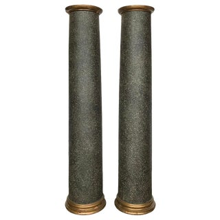 18th Century Neoclassical Faux Porphyry Columns - a Pair For Sale