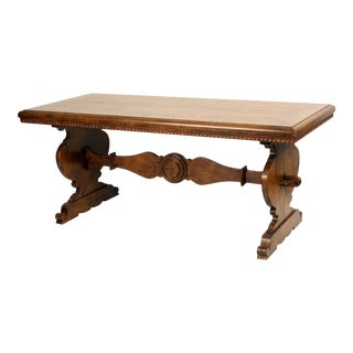 1990s Baroque Style Library Table For Sale