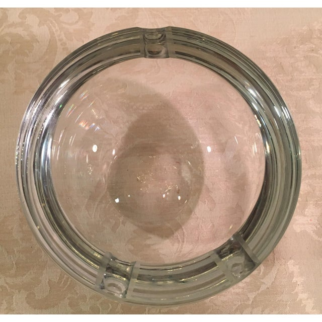 Mid-Century Clear Glass Orb Ashtray - Image 5 of 8