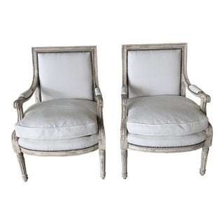 Antique Painted French Chairs - a Pair For Sale