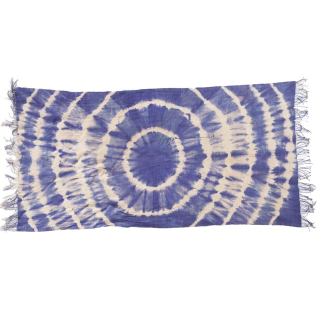 """Vintage African Textile Throw - 3'3"""" X 6'4"""" - Image 1 of 7"""