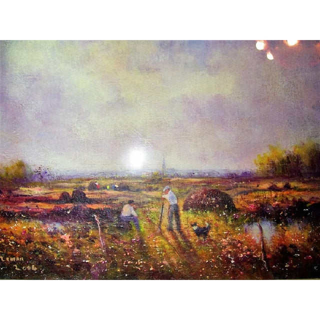 Canvas Irish Oil on Canvas of Ballaghadereen Bog by Seamus Coleman For Sale - Image 7 of 9