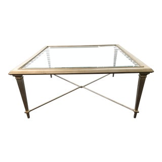 Caracole Silver Leaf Frame Cocktail Table