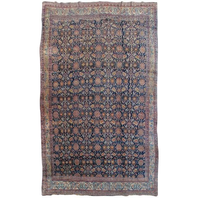 Bidjar Persian Carpet - 11′4″ × 18′8″ For Sale