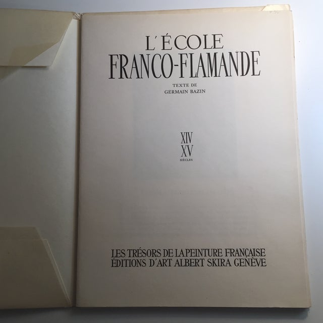 "French 1947 ""L'Ecole Franco-Flamande"" First Edition Folio by Germain Bazin For Sale - Image 3 of 11"