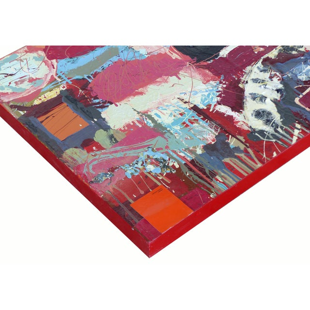 """William P. Montgomery Abstract Mixed Media Painting """"Cornucopia 2"""" on Wood For Sale - Image 10 of 13"""