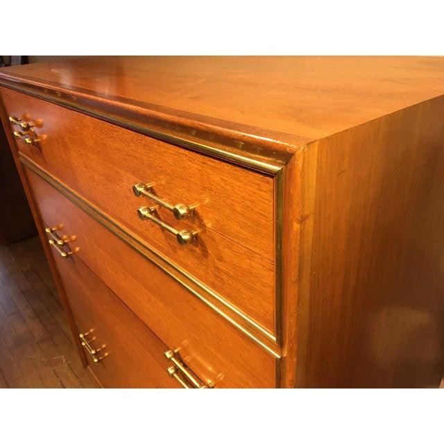 Vintage Mid-Century Tall Dresser For Sale - Image 10 of 12
