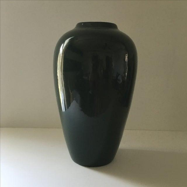 Hunter Green Ceramic Vase - Image 2 of 5