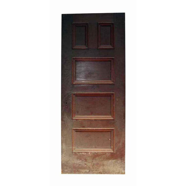 Antique 5 Panel Interior Wood Door - Image 4 of 4