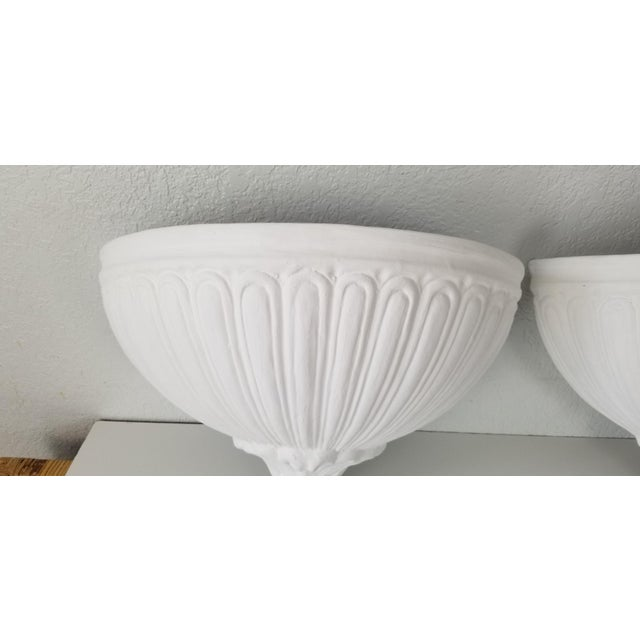 White Italian Vintage Wall Planters - a Pair For Sale - Image 8 of 11