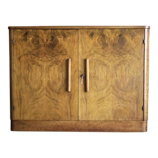Art Deco Burl Wood Cabinet Chest