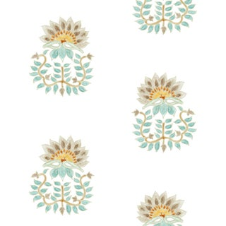 Ferran Gazania Fabric, Sample, French Grey in Linen/Cotton For Sale