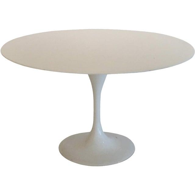 Saarinen Style White Tulip Table - Image 1 of 3