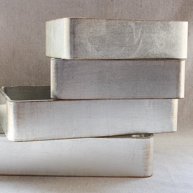 4-Piece Florentine Silver-Gilt Nesting Trays - Image 7 of 11