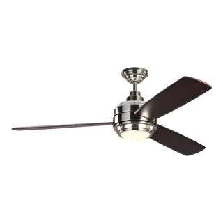 """Monte Carlo 56"""" Aerotour in Polished Nickel with Dark Mahogany Blades For Sale"""
