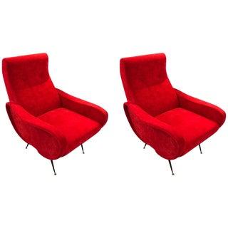 Italian Zanuso Style Chairs - A Pair