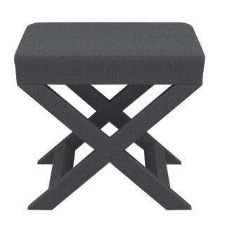X Bench in Slate Linen For Sale