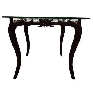 Painted Faux Bois Iron Table For Sale