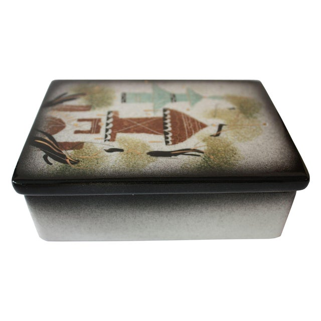 Vintage Sascha Brastoff Ceramic Box - Image 1 of 4