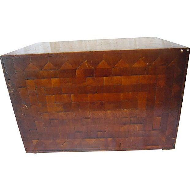 Monogrammed Wood Inlay Box - Image 4 of 5