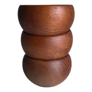 Kay Bojesen Small Teak Bowls Set of 3 For Sale