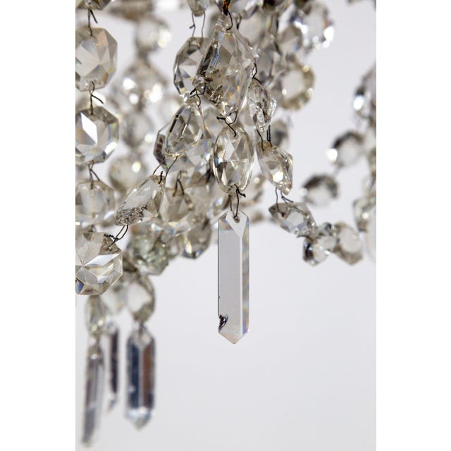 Delicate Crystal & Wire French Regency Tent Chandelier For Sale - Image 12 of 13