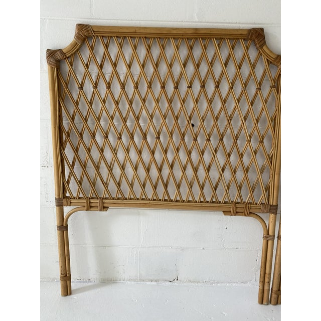 Brown Vintage Rattan Headboards- a Pair For Sale - Image 8 of 13