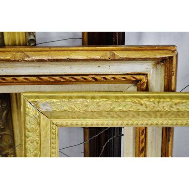 Vintage Medium Sized Wood Picture Frames - Group of 6 For Sale In Philadelphia - Image 6 of 13