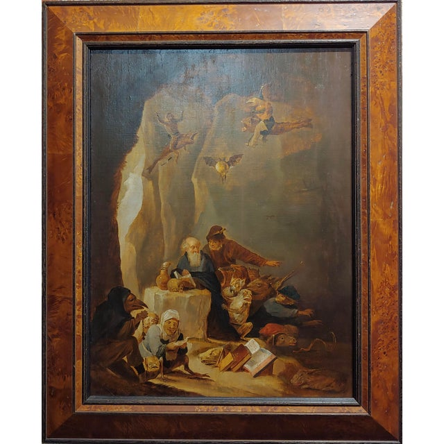 David Teniers the Younger-Flemish-The Temptation of St. Anthony-Oil Painting-c1680s Attributed to David Teniers the...