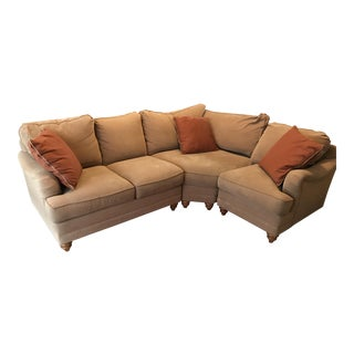 Microfiber Bassett Custom Sectional For Sale