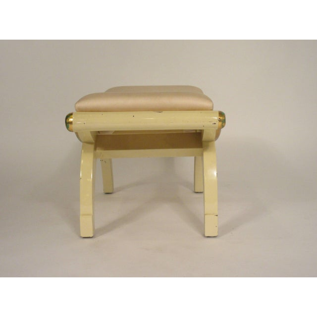 1970s Gilt Swag Wood Bench For Sale - Image 4 of 7