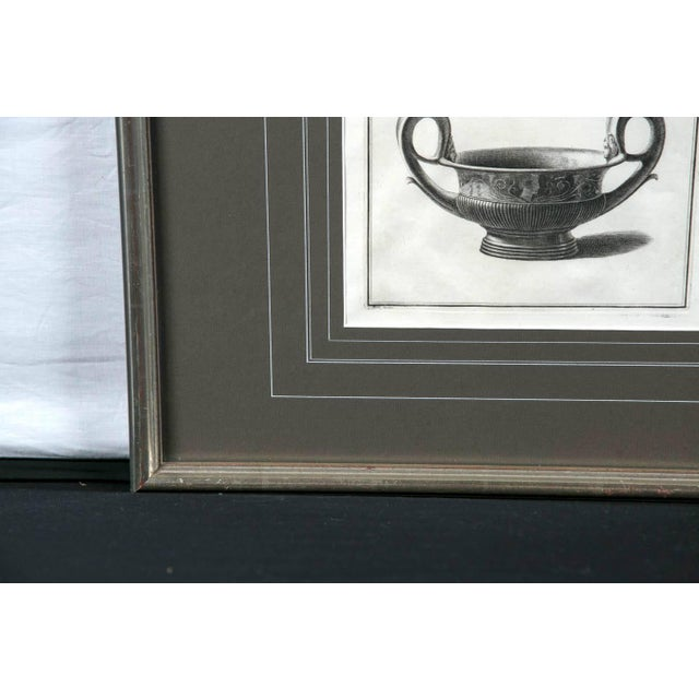 Mid 19th Century Framed Etching, Neoclassical Vessel, 19th Century For Sale - Image 5 of 6