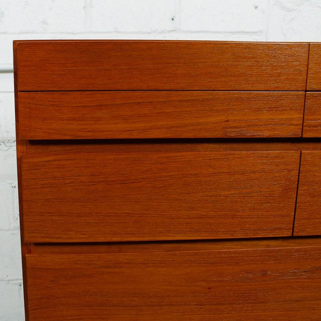 Vinde Mobelfabrik Danish Modern 10-Drawer Dresser For Sale - Image 9 of 10
