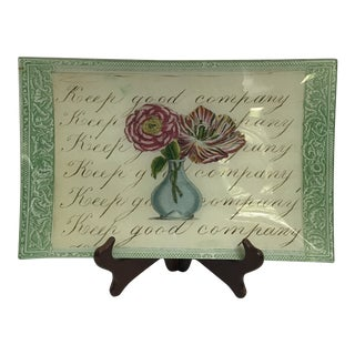 "John Derian ""Keep Good Company"" Letter Tray For Sale"