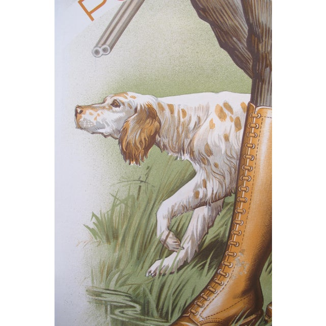 Art Deco 1930s French Art Deco Hunting Poster, Chaussures Du Marais For Sale - Image 3 of 4