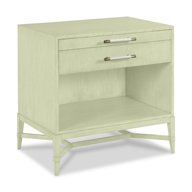 This is a made to order item with a 6-8 week leadtime. The color is Benjamin Moore Guilford Green.A rectangular top rests...