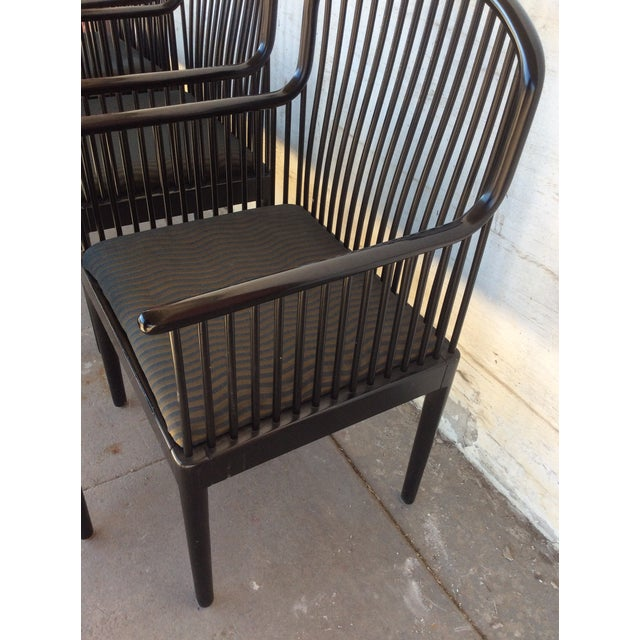 1980s Mid Century Andover by Stendig Arm Chairs- Set of 5 For Sale - Image 5 of 12