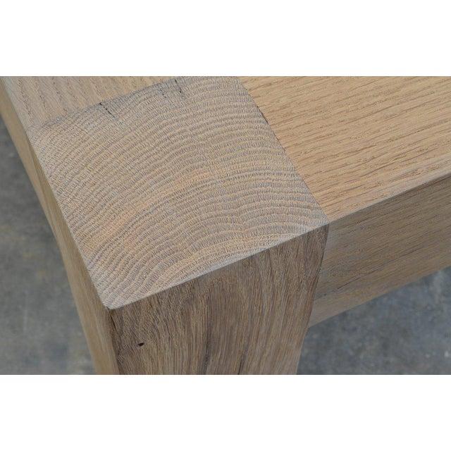 2010s Ozshop Antique Oak Parson's Coffee Table - Square For Sale - Image 5 of 6