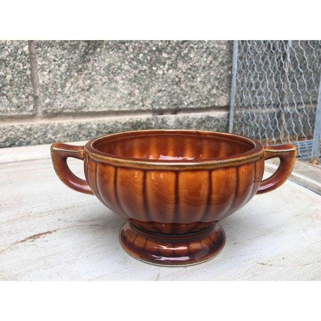 Vintage Amber Pedestal Bowls - Set of 4 - Image 3 of 8