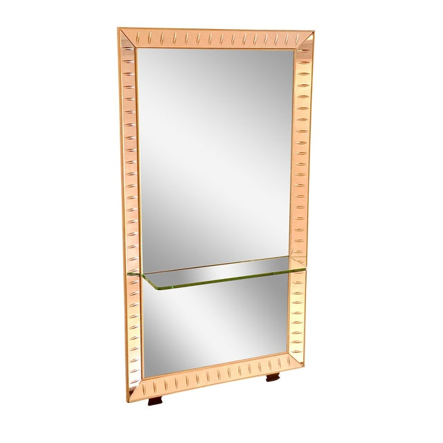 Cristal Art Mirror & Glass Console - Image 1 of 5