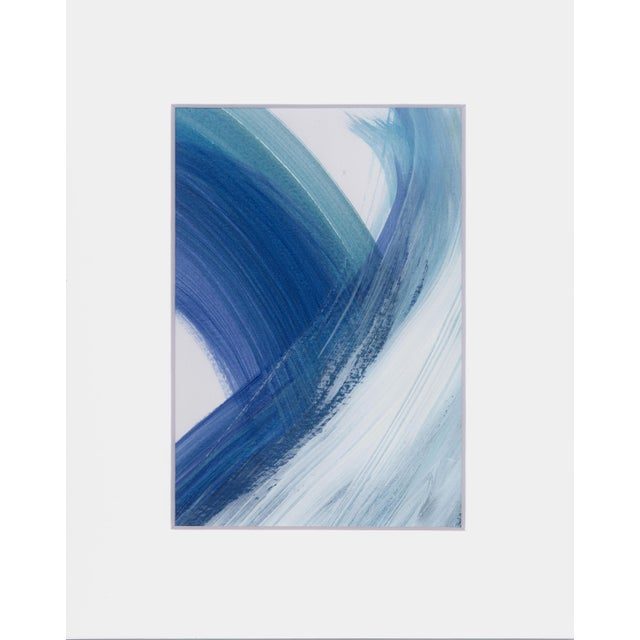 "Original ""Enjoy the Ride"" Modern Abstract Minimalist Matted Acrylic Painting For Sale - Image 4 of 4"