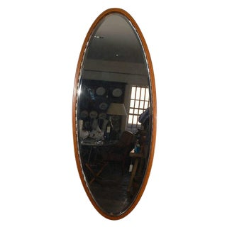 Larger Oval Beveled Mirror For Sale