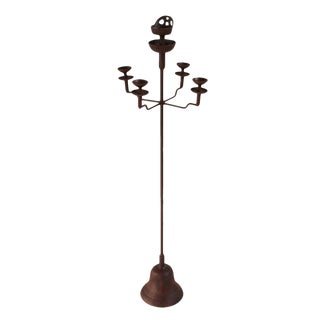 Vintage Iron Shanxi Candle Stand - Medium