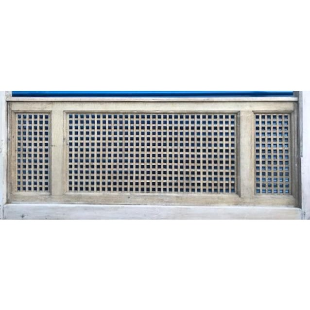 Antique Wood Square Lattice 4 Post King Headboard & Footboard For Sale In Philadelphia - Image 6 of 11
