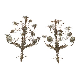 Vintage Italian French Wire Sconces - A Pair For Sale