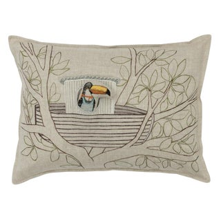 Toucan Tugboat Pocket Pillow