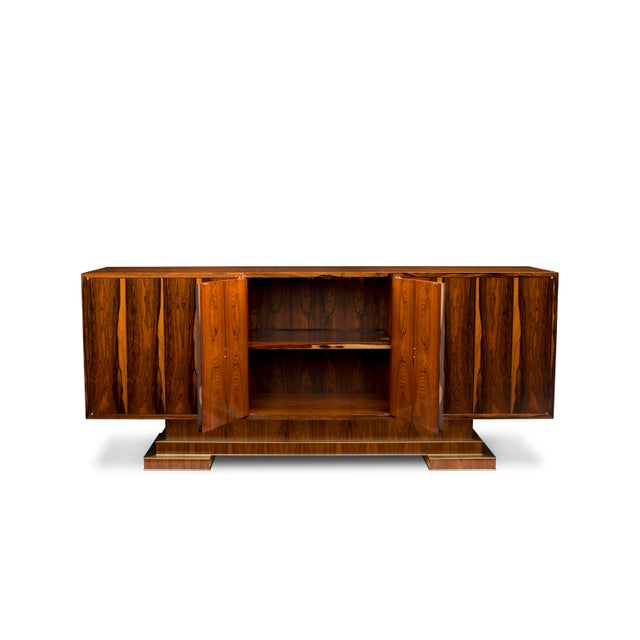 "This Sideboard is one of a pair of ""sister"" cabinets, inspired by French Designers circa 1940's, such as Paul Dupre-Lafon,..."