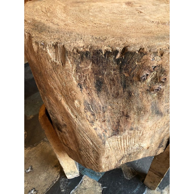 20th Century Organic Modern Tree Trunk Chop Block For Sale In Seattle - Image 6 of 8